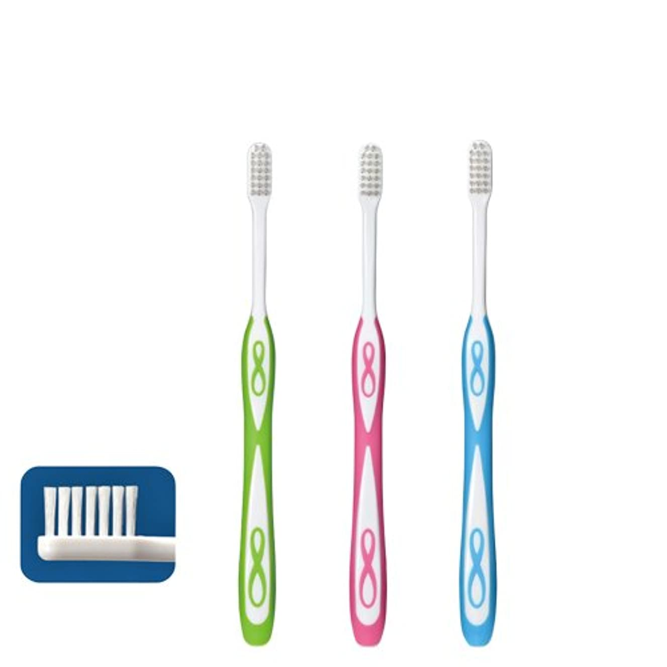 セーターブラジャー差別的Lover8 ラバーエイト ラウンド毛歯ブラシ × 1本 S(やわらかめ)Ciメディカル 【歯科専売品】