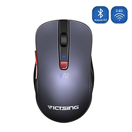 Bluetooth 4.0マウス 2.4Gワイヤレスポータブルモバイルマウス マルチデバイス制御 12ヶ月電池寿命 5つDPI 最高2400 広い互換性PC、ラップトップ、マック、アンドロイドOSタブレット、スマートフ ォン
