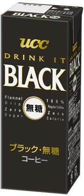 ブラック無糖 紙パック 200ml ×24本