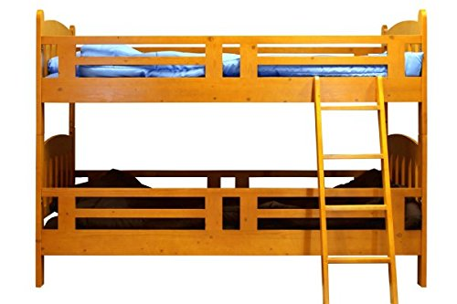 ロータイプ 二段ベッド 耐震仕様 (ブラウン)