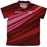 ヴィクタス(VICTAS) 卓球 シャツ 吸汗速乾 軽量 DRY V-オーセンティックシャツ 男女兼用 レッド XL 532111