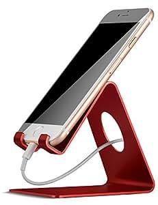 スマホスタンド, Lomicall iphone スタンド, iphone 充電スタンド, ホルダー : 対応 Nintendo Switch, 携帯電話, アイフォン iPhone 7 6 6s plus 5 5s ,Samsung S3 S4 S5 S6 S7, Galaxy S7 S6, Note 6 5, LG, Sony, Nexus - 赤