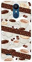 エルジー イット LG it au TPU ソフトケース コーヒーとコーヒー豆 スマホケース スマホカバー デザインケース