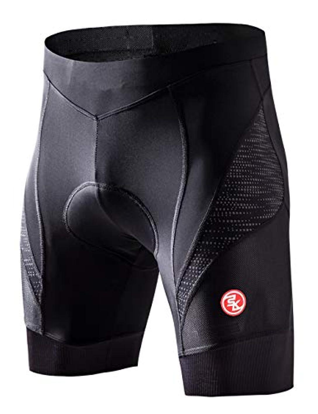 礼儀デジタルとは異なりSouke Sports サイクルパンツ メンズ レーサーパンツ 4Dパッド 痛み軽減14-パネル 伸縮性 速乾 通気性 吸汗力 自転車パンツ 軽量 滑り止め 再帰反射 サイクリングウエア ロードバイク クロスバイク