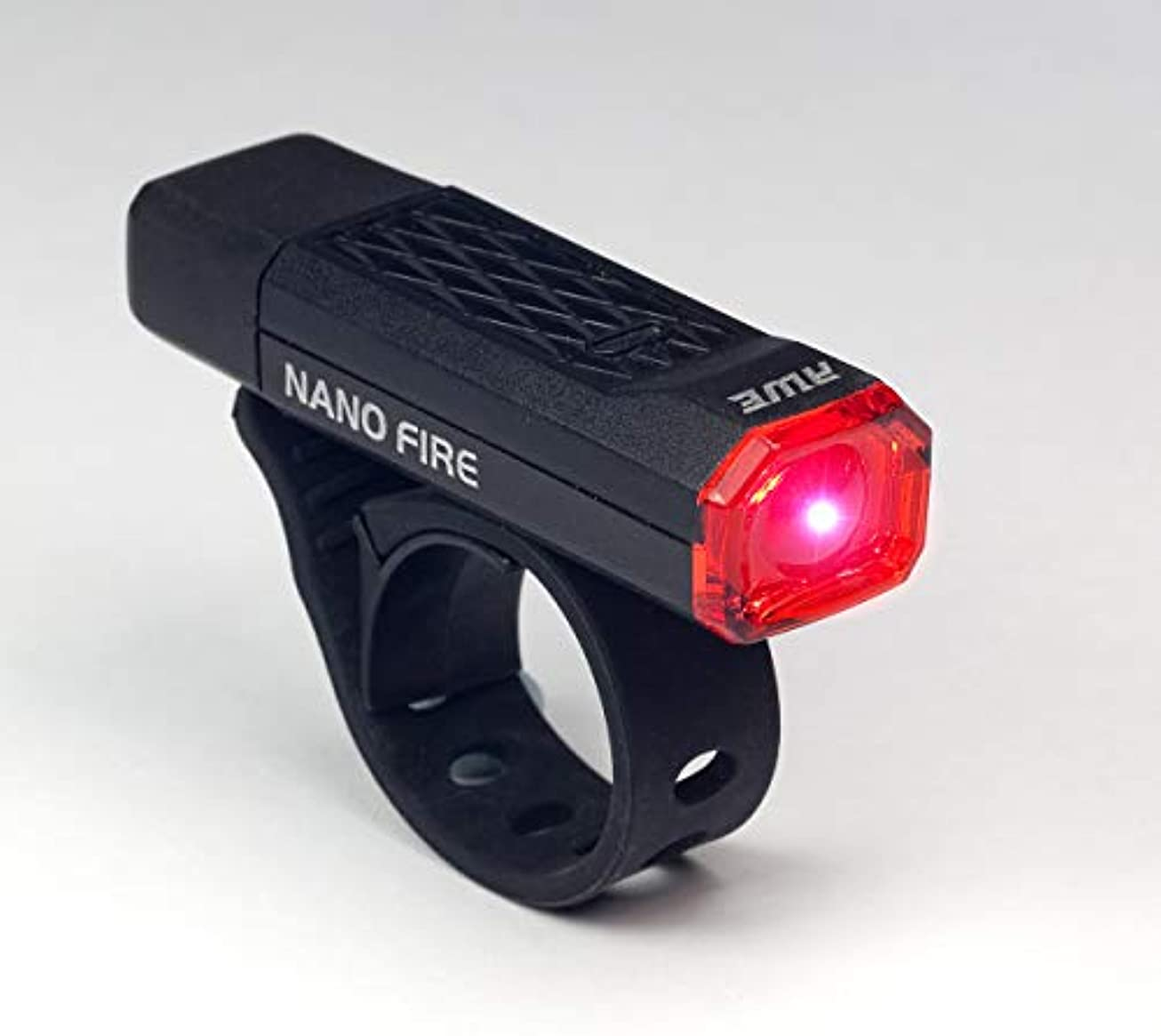 おんどり発見する公式AWE?つ? Nano FireTM USB 12 Lumens Rechargeable Rear Light Black CE Approved by AWE