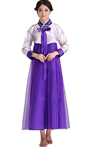 Ranpi チマチョゴリ 【 女性 身長 160cm~170cm】 韓国民族衣装 王妃 ドレス コスプレ 衣装 おしゃれ ファッション レディース (紫)