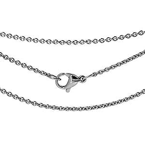 新宿銀の蔵 幅1.4mm あずき サージカル ステンレス チェーン 長さ40cm~50cm (40cm) 人気 ネックレス チェーン