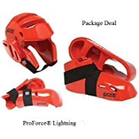 Lightningレッド空手Sparring Gear Package Deal – Child Small