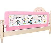 HUO ベビーベッドガードレールの安全ベビーレールの子供ベッドのベッドサイドベゼル1.5メートル1.8メートル 省スペース (色 : Pink, サイズ さいず : 1.5m)