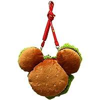 ミッキーシェイプ ミッキー マウス ハンバーガー パスケース ネック コインケース 小銭入れ ポーチ ( 東京 ディズニー リゾート限定 )