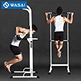 WASAI(ワサイ)ぶら下がり健康器 懸垂マシン 背筋運動 30W 筋肉伸ばし (白)