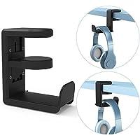 ヘッドホンスタンド 360度回転 ヘッドホン フック 改良版 ヘッドセット スタンド 多機能 Miikare ヘッドホンハンガー「品質保証」