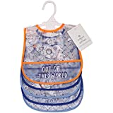 Buttons & Stitches Boys Frosted Peva Bibs, Space Print
