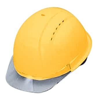 TOYO ヒサシ透明ヘルメット No.380F-OT-C うす黄 視界が広く安全 通気孔付き 日本製