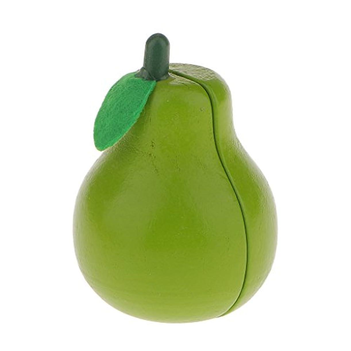 岩同一性疲労梨おもちゃ 木製香り梨 キッチン食品おもちゃ ロールプレイ 親子ゲーム 小道具 知育玩具 置物