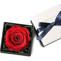 MAKEFUTURE Diamond Rose 9 プリザーブドフラワー フラワーボックス ダイヤモンドローズ アモローサ (ブライトレッド)