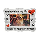 Home-X Paw Print Memorial Ceramic Picture Frame | Pet Sympathy Gift | in Memory of a Dog or Cat