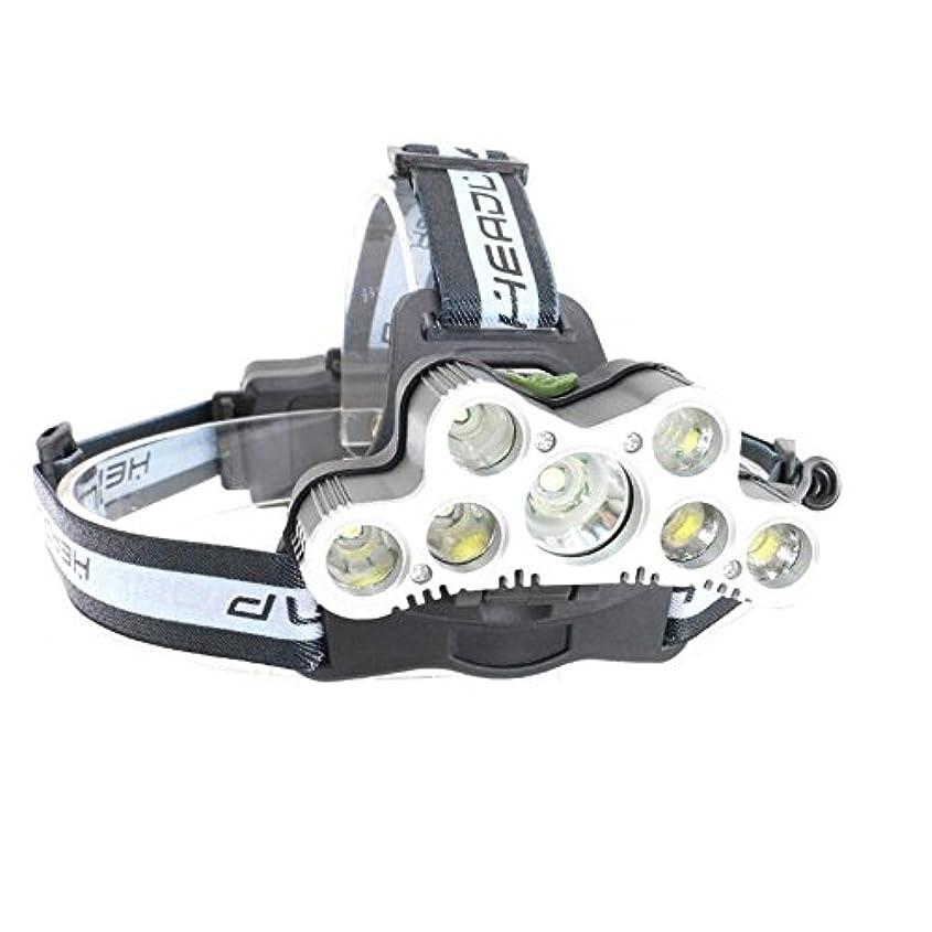 ログサービスマリナー1stモール 天翔るヘッドライトLED 超高輝度 9000ルーメン 防水 充電式 ランプ 7灯式 6モード 角度調整 夜釣り SOS機能 AMAKAKELED