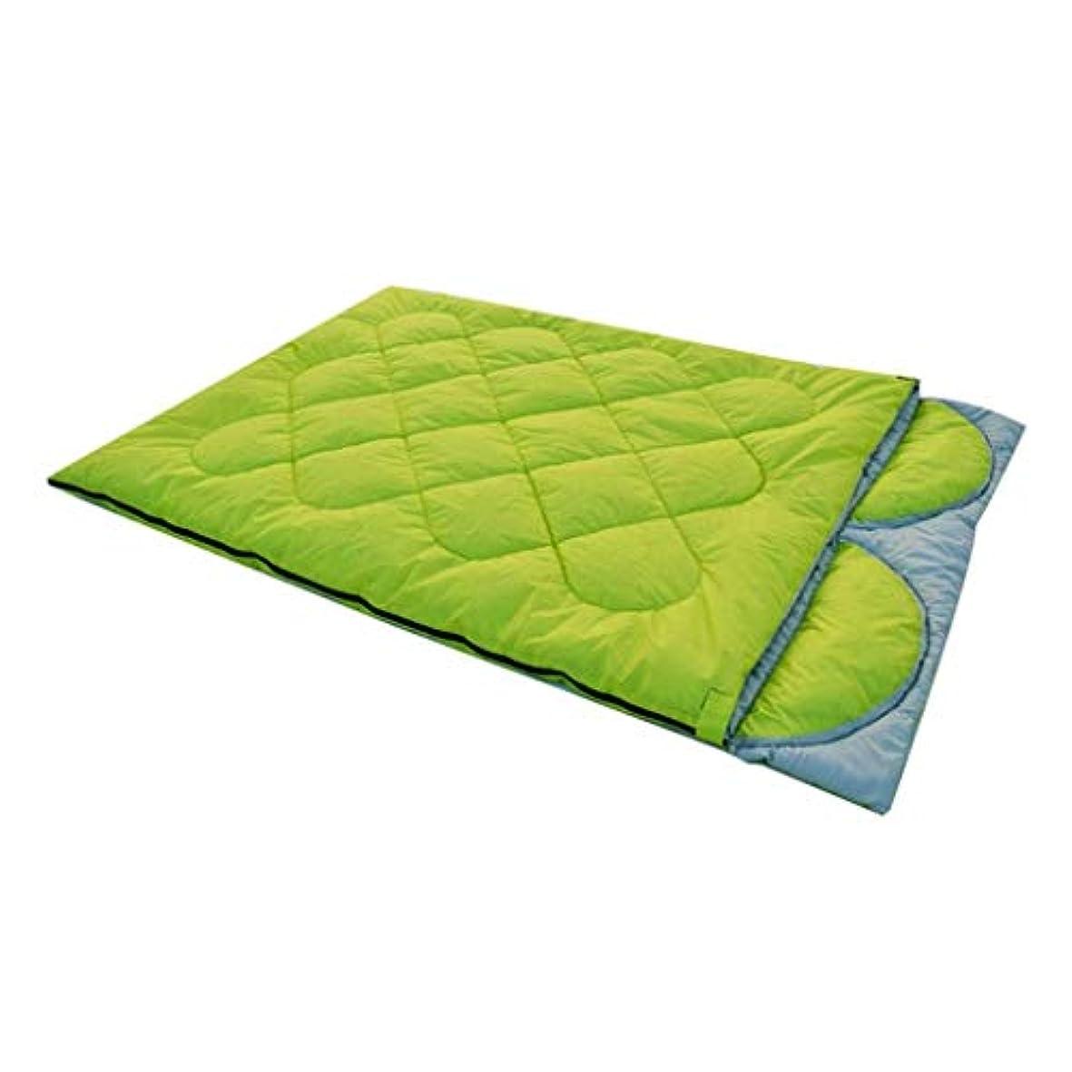 安全フットボール乳白カップル寝袋ダブル屋外取り外し可能な枕キャンプ秋と冬のファッションスタイル