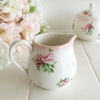 ロマンティックローズ クリーマー/ミルクポット【日本製】食器 キッチン雑貨 ピンク 花柄