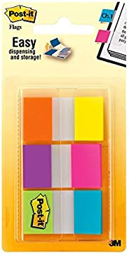 Post-it 680-EG-ALT Flags Bright Colours Alternating 25mm (Pack of 60) Electric Glow Collection