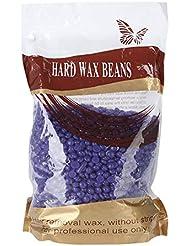 ヘアリムーバーワックスビーン、1000グラム/バッグ脱毛ハードワックスビーンアームボディビキニスキン美容豆用女性男性 (Lavender)