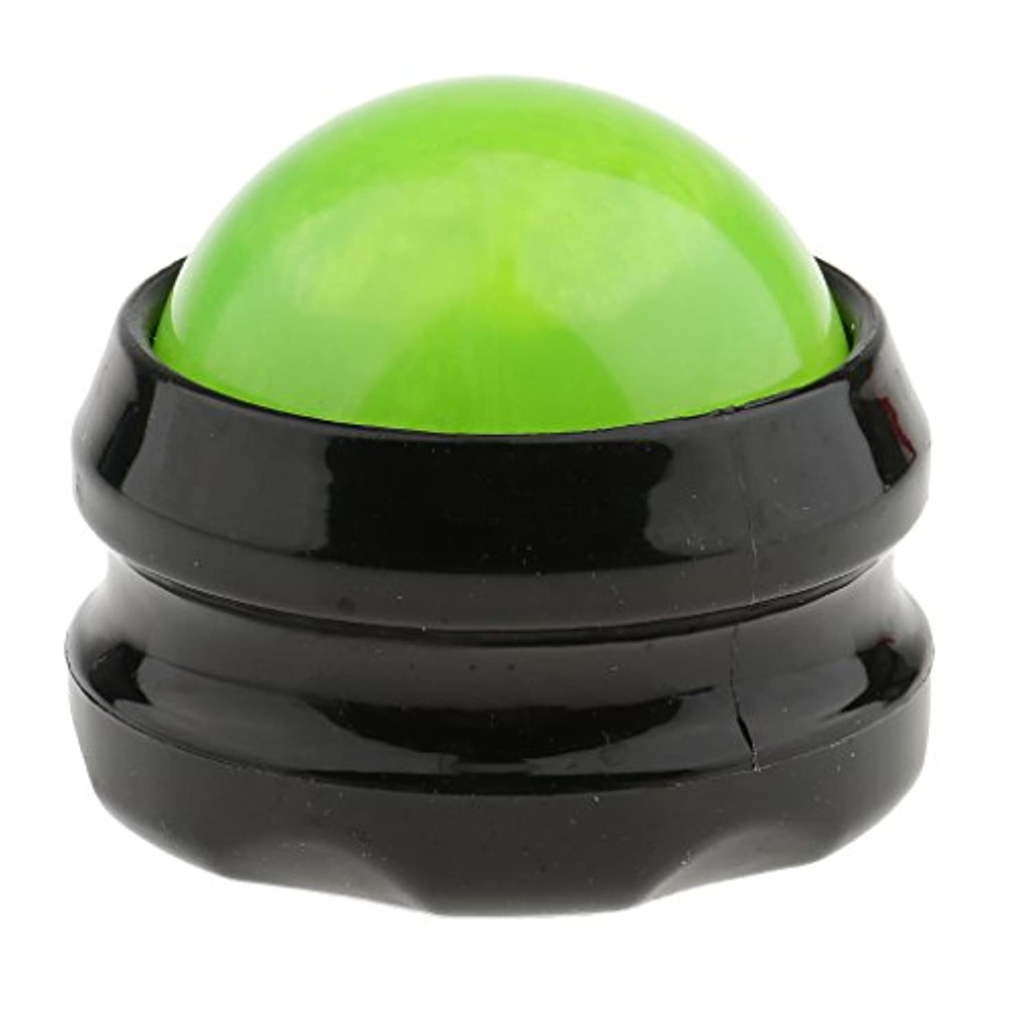 溶融歯痛捨てるHellery マッサージ ローラーボール ボディマッサージ 自宅 オフィス 旅行 SPA 全4色 - グリーンブラック