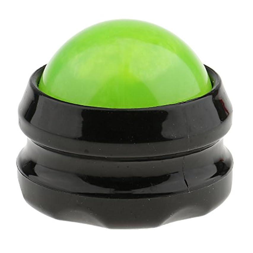 筋すりマッサージ ローラーボール ボディマッサージ 自宅 オフィス 旅行 SPA 全4色 - グリーンブラック