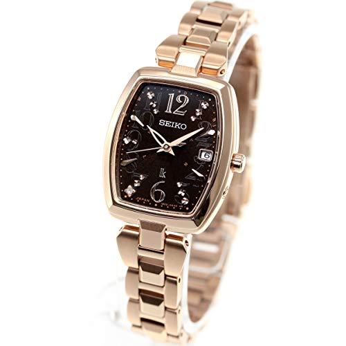 [ルキア]LUKIA 腕時計 LUKIA ソーラー電波 ブラウンダイヤモンド入り文字盤 トノー型 10気圧防水 SSVW128 レディース