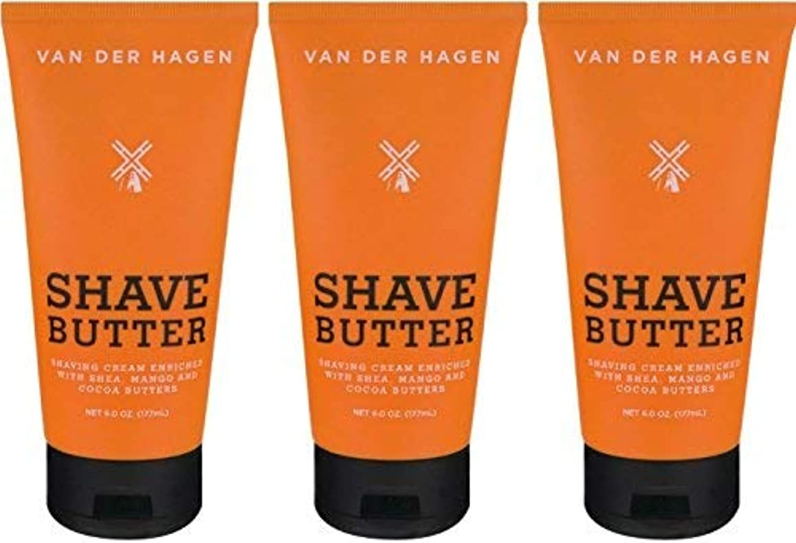 メニュー害エキスVan Der Hagen Shave Butter 6-ounce Times Three Value Pack | 18-Ounces Total [並行輸入品]