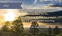 Pass Along ポケット聖書カード ジョイ 詩篇 30:5 25枚パック