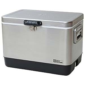 テントファクトリー クーラーボックス メタルクーラー ステンレス ボックス 51L メタルハンドル/ドレンプラグ 標準装備 TF-MBS51