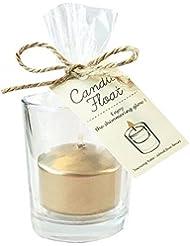 カメヤマキャンドル(kameyama candle) キャンドルフロート 「ゴールド」6個セット