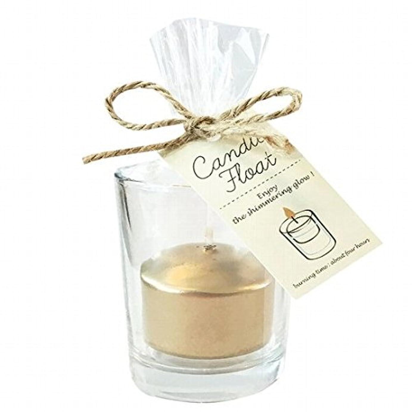 協定対称送信するカメヤマキャンドル(kameyama candle) キャンドルフロート 「ゴールド」6個セット