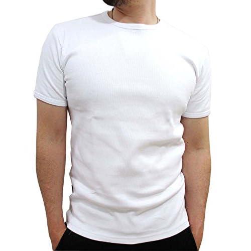 (アビレックス)AVIREX ストレッチテレコ クルーネック Tシャツ メンズ 半袖 M ブラック