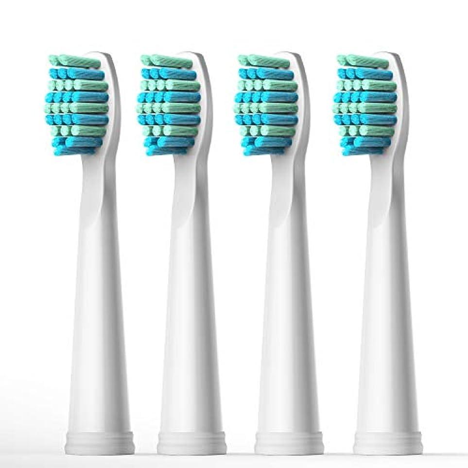 絶対に夕食を作るスクラップFairywill 電動歯ブラシ用 替ブラシ 4本入 互換ブラシ ブラシヘッド やわらかめ BH01