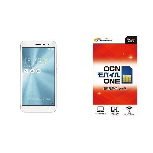 ASUS ZenFone3 SIMフリースマートフォン (ホワイト/5.5インチ)日本正規代理店品(オクタコアCPU/4GB/64GB/DSDS  au VoLTE対応) ZE552KL-WH64S4/A  OCNモバイル エントリーパッケージセット