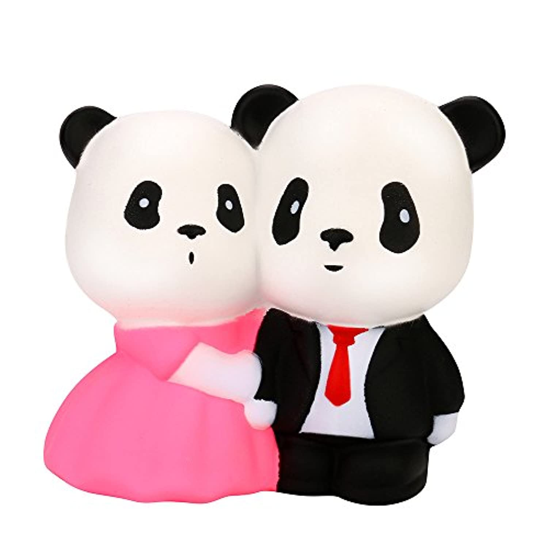 Squishies Slow Rising Squeeze Toysジャンボソフトかわいいウェディングパンダシミュレーションクリーム香りつきSquishyおもちゃfor子供と大人、ストレスリリーフおもちゃLovely玩具キーチェーン電話ストラップ Ghazzi0514