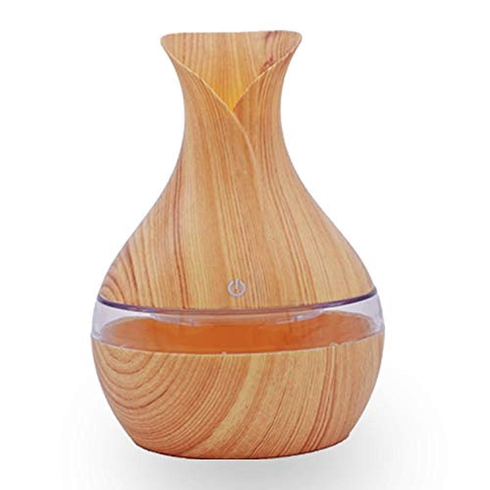アダルトズボン文句を言うミニ加湿器300ML木材のアロマセラピー機械ディフューザーの楽器カラフルな超音波のオフィスのリビングルームのベッドルーム,Lightcolor