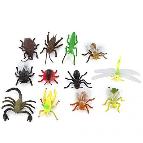 ノーブランド品 24個 フィギュア 昆虫 動物モデル 虫の模型 子供のおもちゃ 贈り物 ギフト #2