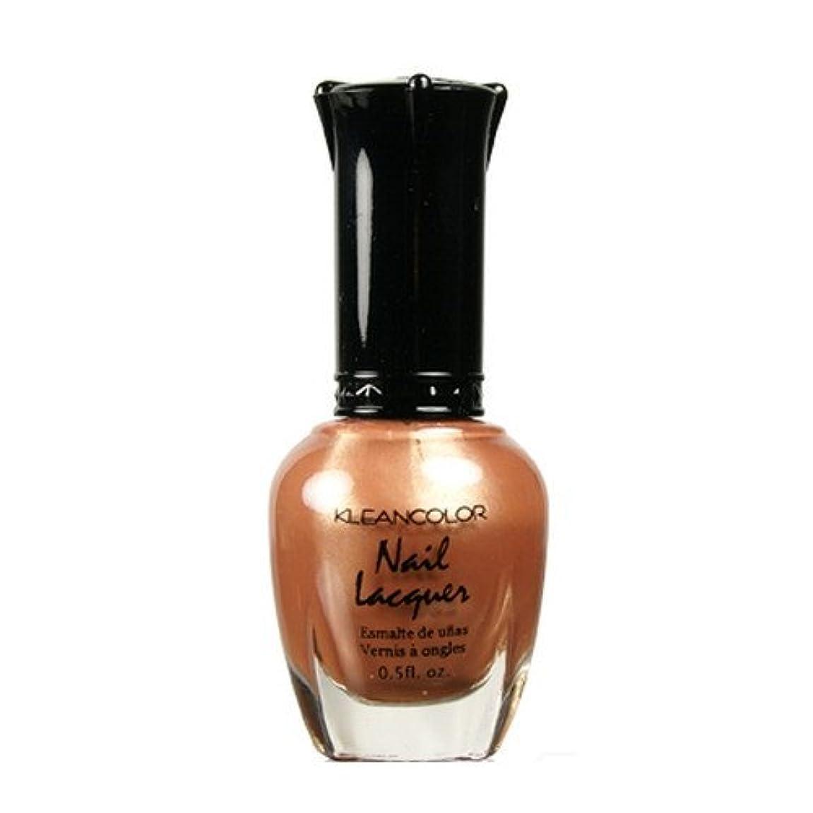 競争血まみれの走る(6 Pack) KLEANCOLOR Nail Lacquer 1 - Chocolate Brown (並行輸入品)