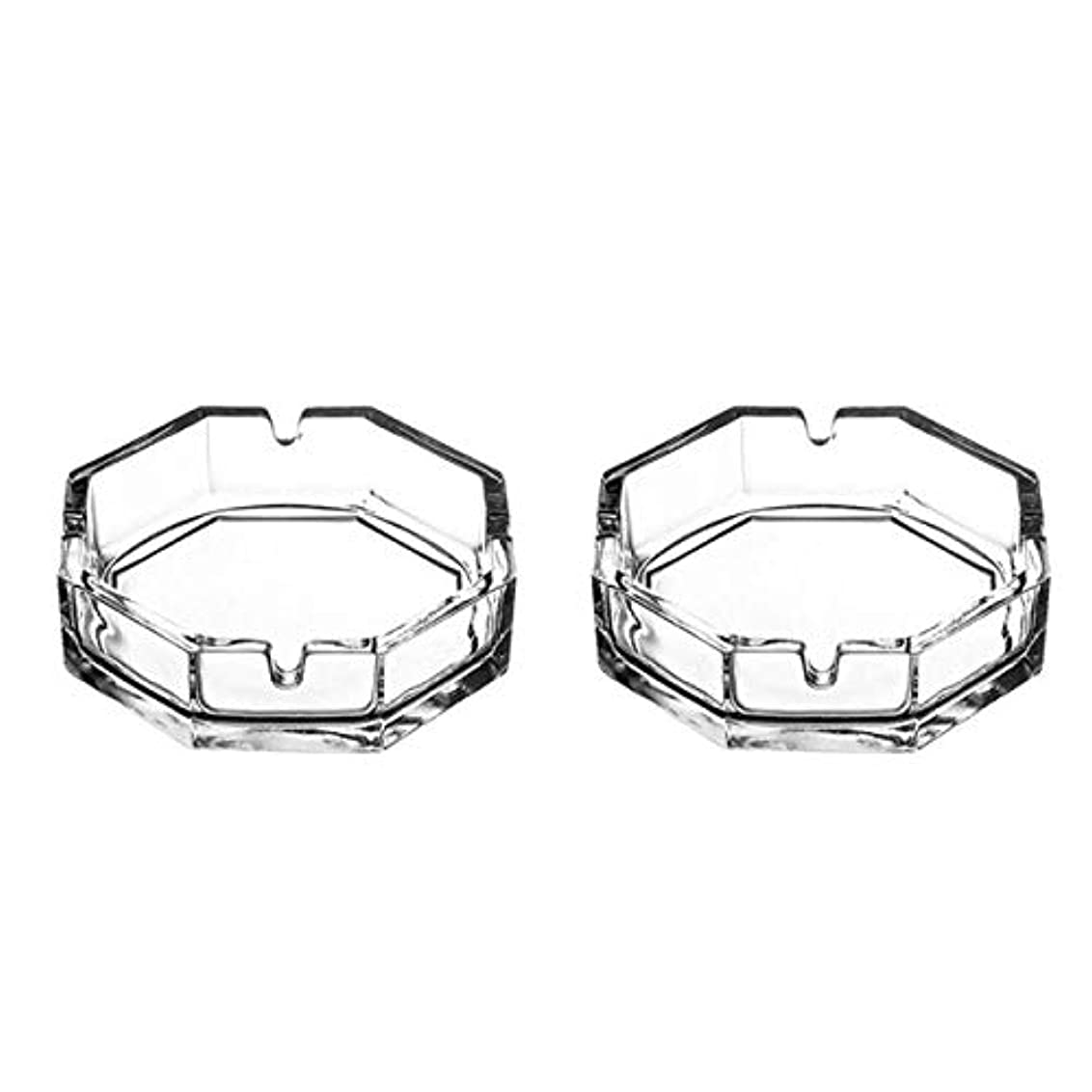 名前で高尚な枯れる八角形のガラスタバコの灰皿(2パック)