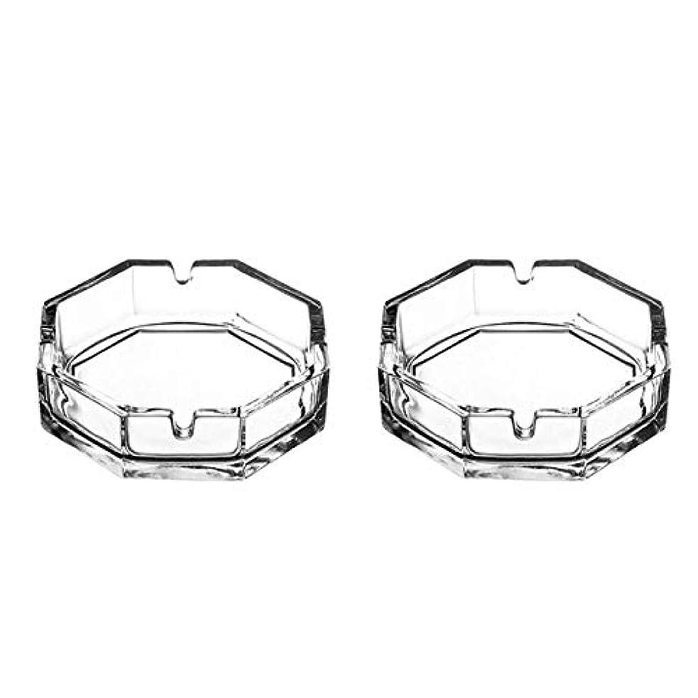 ベンチベンチ混乱させる八角形のガラスタバコの灰皿(2パック)