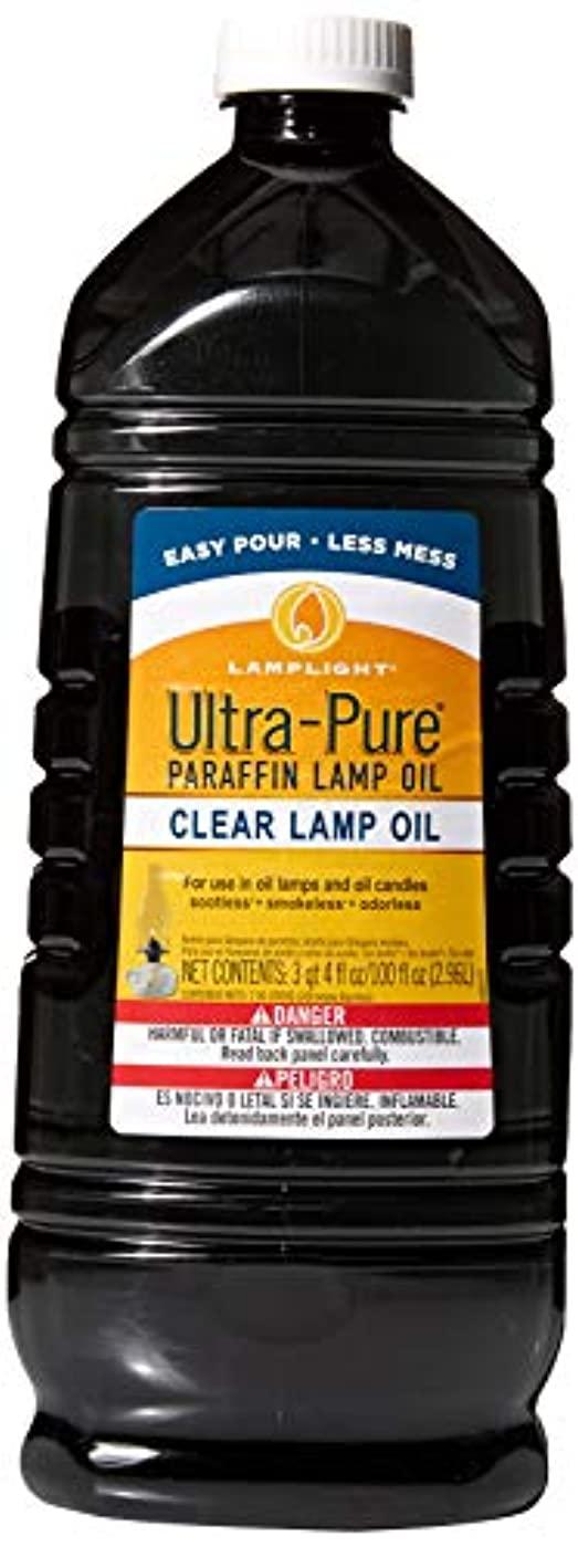腸命令的Lamplight Farms 60001 Ultra Pure Lamp Oil, Clear, 2960ml/2.96-Litre
