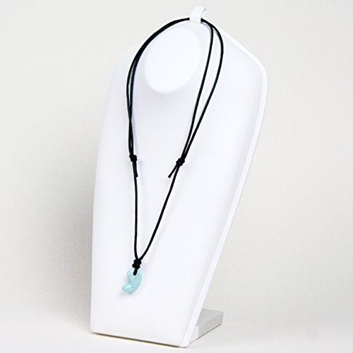 古代勾玉(まがたま)ペンダント ラリマー [ソーダ珪灰石 Pectolite]※巾着袋付き