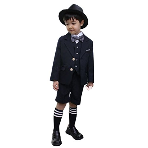 Cuteshower 子供スーツ 男の子 ベビー フォーマルスーツ 結婚式 七五三 入園式 入学式 6点セット 120cm