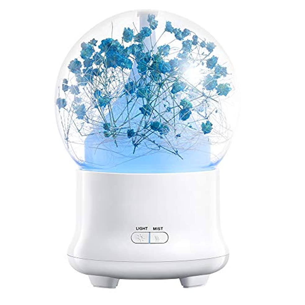 クリエイティブアロマテラピーマシン、超音波アロマテラピー香り高いオイル気化器加湿器、オートオフセーフティスイッチ7 ledライトカラー,3