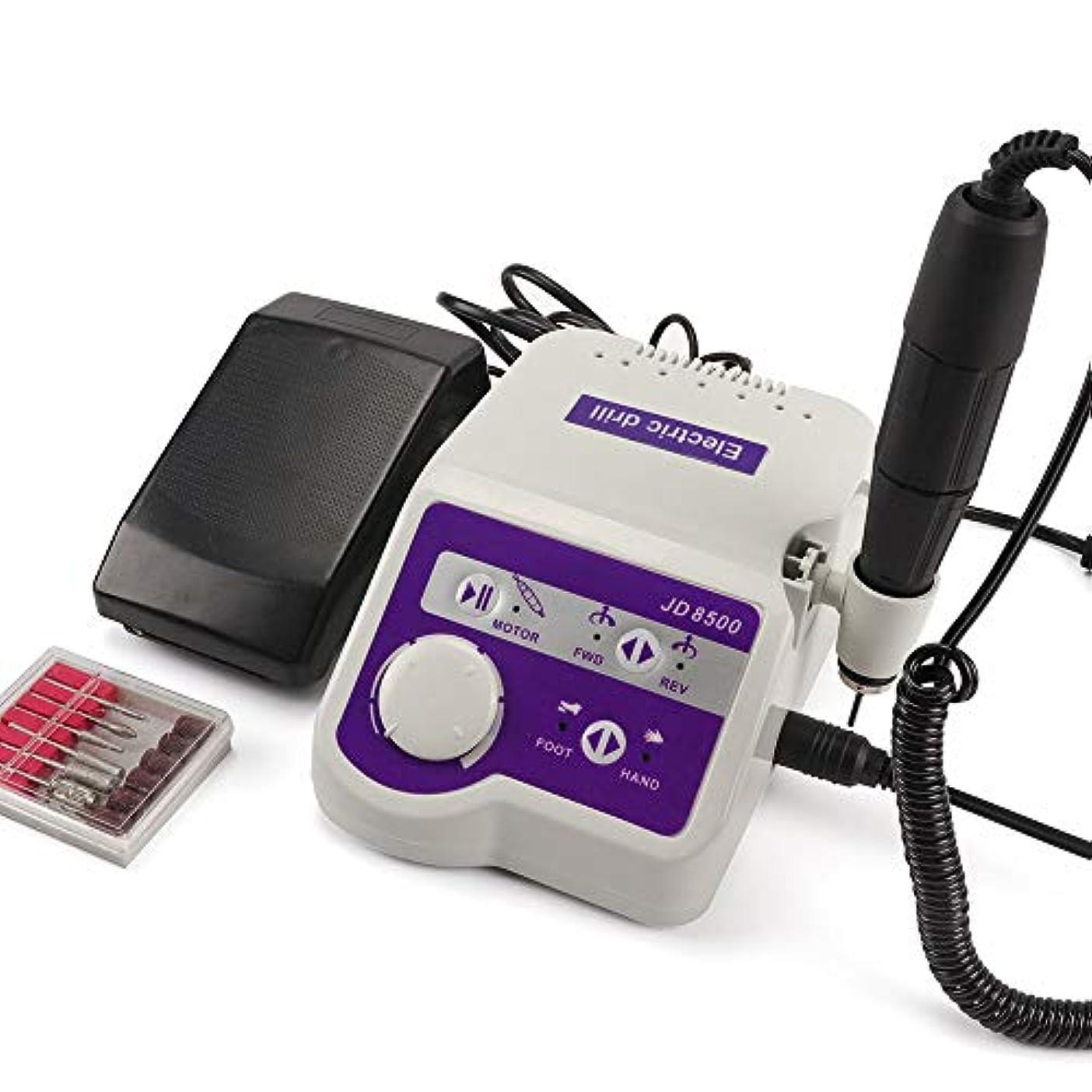 リスキーな刃回想65ワット35000 rpmプロフェッショナルJD8500電動ネイルドリル機35000 rpmマニキュアツールペディキュアポリッシャーネイルアート機器