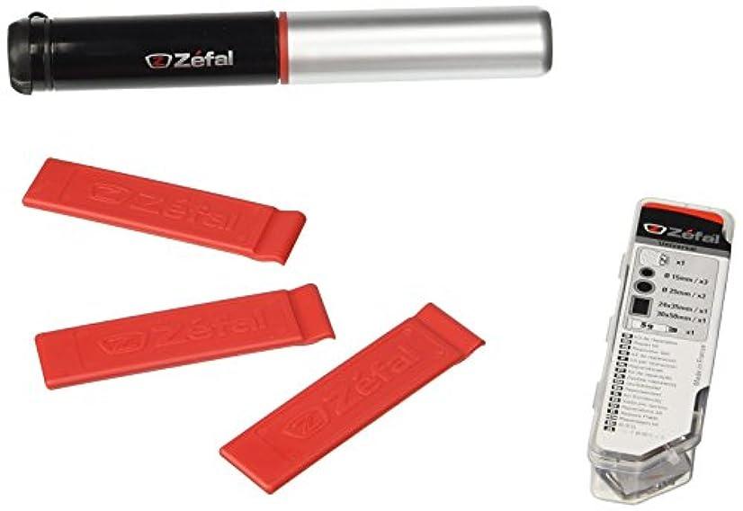 お祝い火山学者傘Zefal May Day Kit, Air Profil FC01 Telescopic Mini Pump, 3 Z-Tyre Levers, Universal Puncture Repair Kit by Zefal