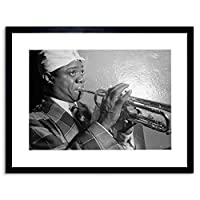 Music Vintage Photo Louis Armstrong Funny Headscarf Framed Wall Art Print
